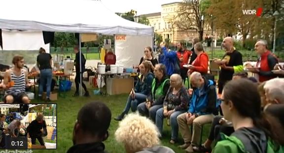WDR-Lokalzeit berichtet vom Klimacamp in Bonn