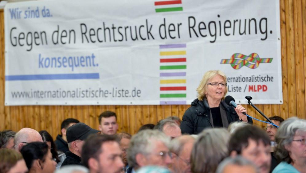 Monika Gärtner-Engel während der Diskussion (Foto: RF)