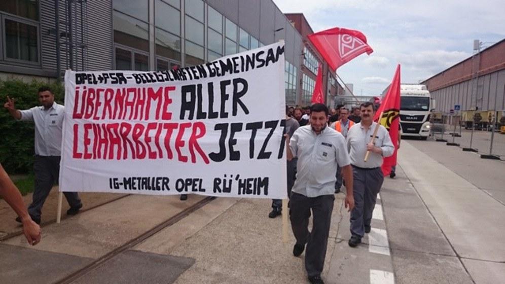 Rüsselsheimer Opelaner treten für die Übernahme der Leiharbeiter ein (Foto: RF)