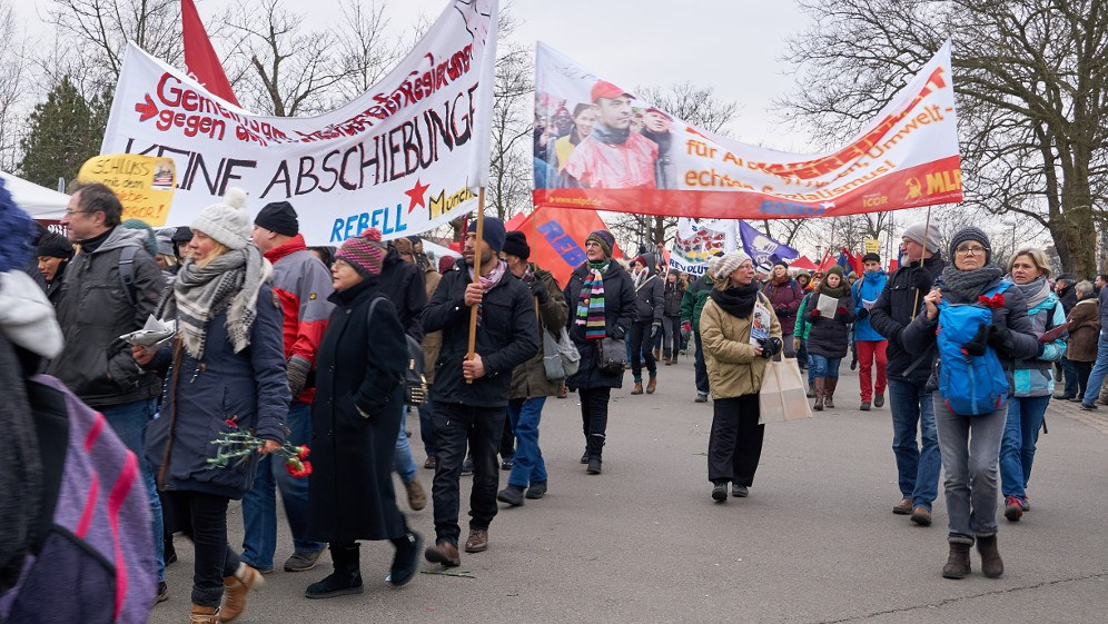Internationalistisches Bündnis und MLPD - hier bei der LLL-Demonstration am 14. Januar in Berlin (Foto: RF)