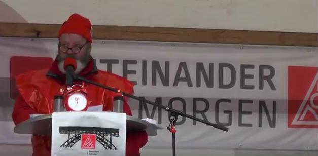 Kämpferischer Gewerkschafter spricht in Solingen