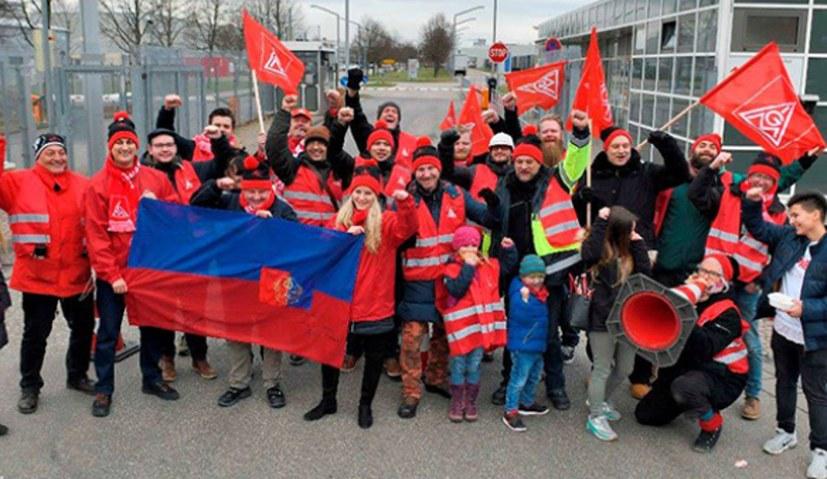 Ungarischer Solibesuch bei 24-Stunden-Streik