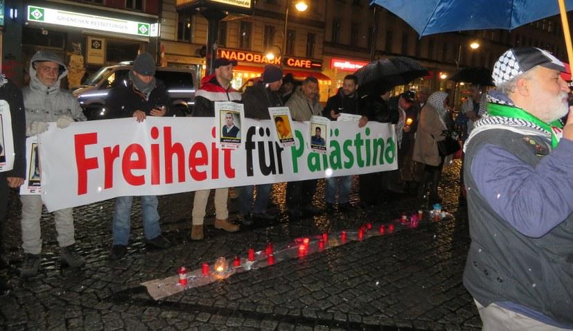 Demonstration gegen israelische Aggression