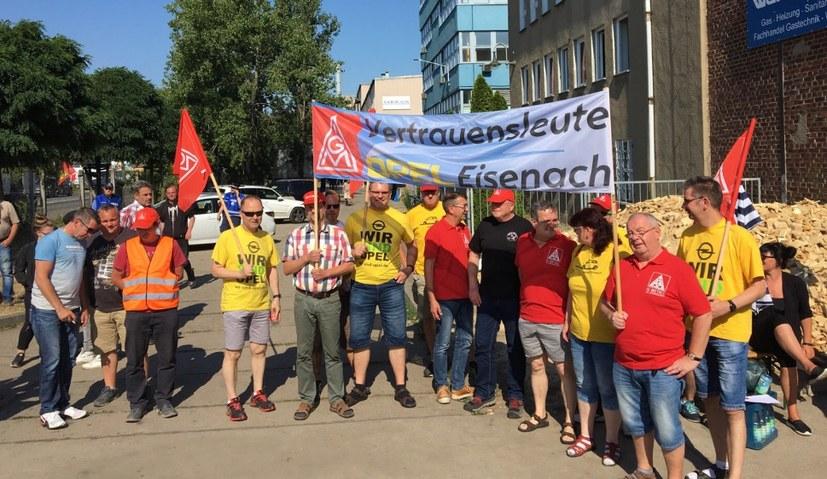 Vertrauensleute von Opel Eisenach besuchen Halberg-Guss-Belegschaft