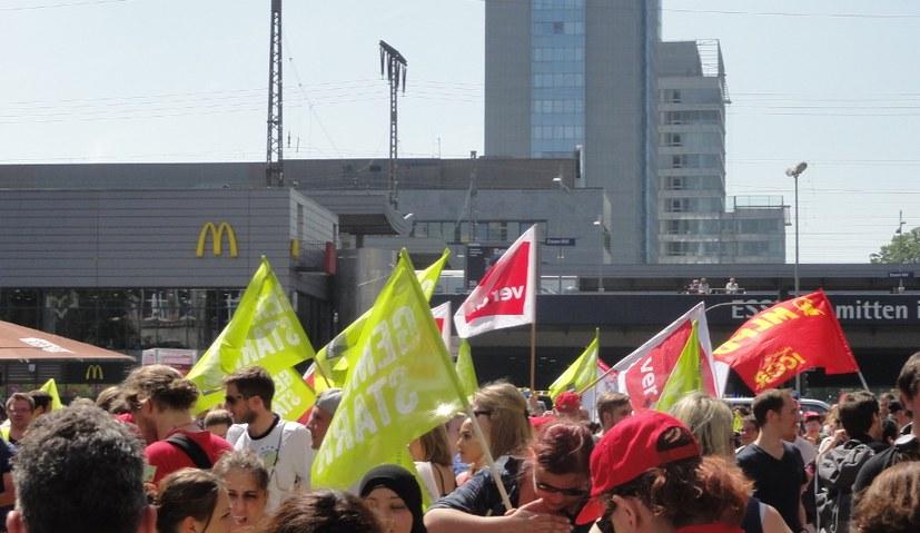 """Streik an Unikliniken: """"Wir laufen uns heute warm"""""""