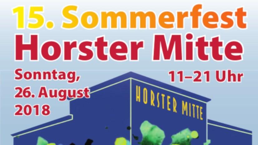 """15. Sommerfest der """"Horster Mitte"""" am 26. August"""
