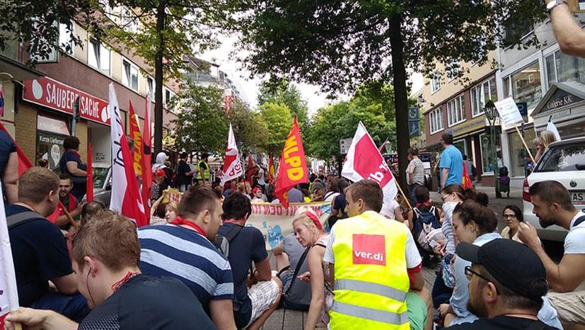 Streikende Klinikbeschäftigte erfahren vielfältige Solidarität
