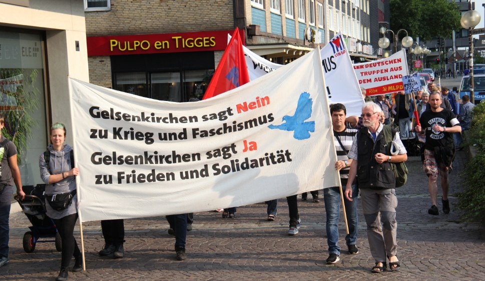 Antimilitaristischer Protest am Antikriegstag 2017 in Gelsenkirchen (rf-foto)