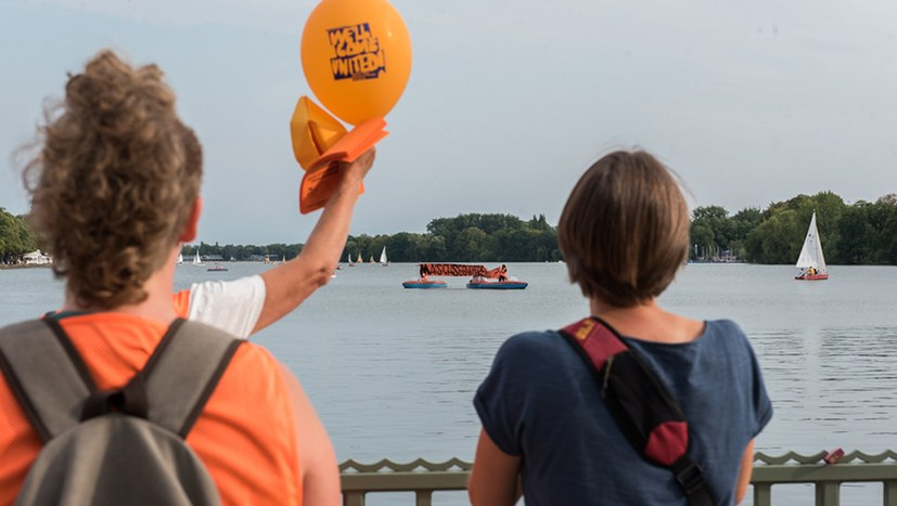Aktion für Seenotrettung auf dem Maschsee-Fest