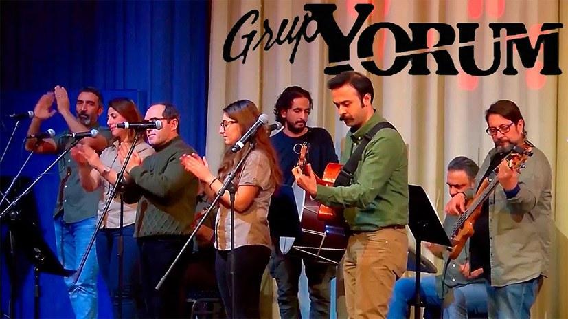 Protest gegen das Auftrittsverbot für die antifaschistische Band Grup Yorum