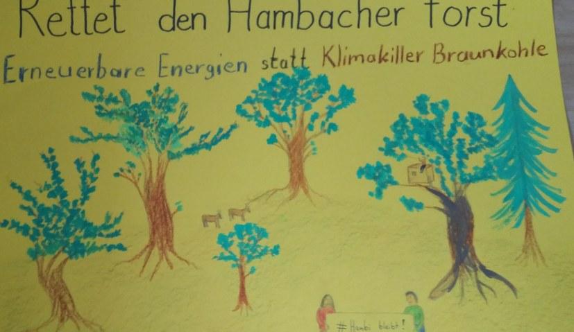 Der Kampf um den Hambacher Wald im Mittelpunkt