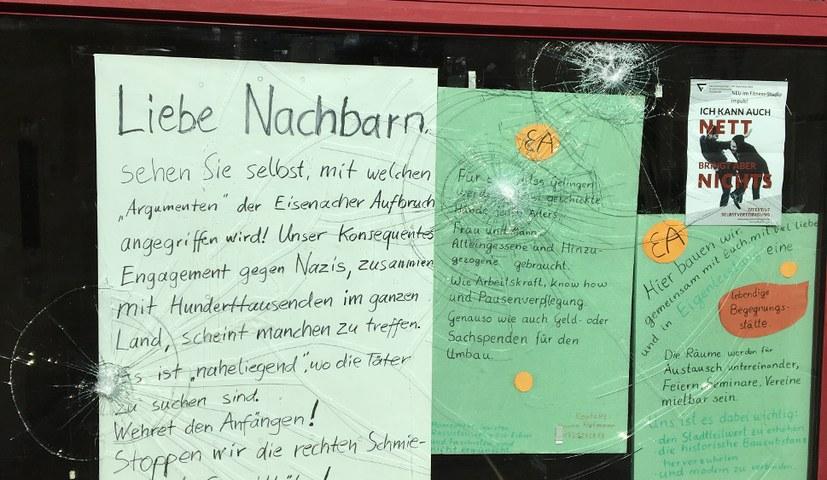 Faschistischer Anschlag gegen den Eisenacher Aufbruch