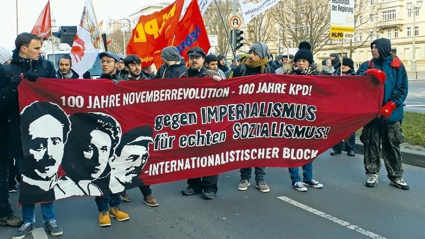 Lenin-Liebknecht-Luxemburg-Demonstration 2018 in Berlin (Foto: RF)