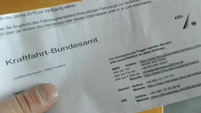 Post vom Kraftfahrt-Bundesamt