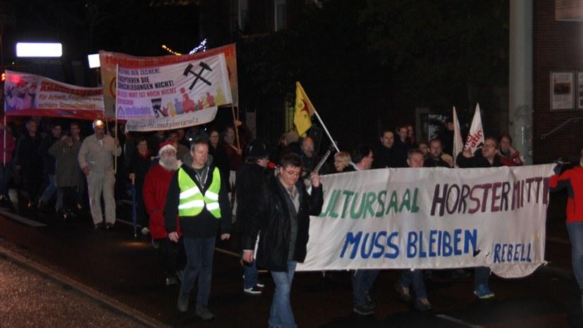 699. Gelsenkirchener Montagsdemo fordert: Freigabe des Kultursaals Horster Mitte