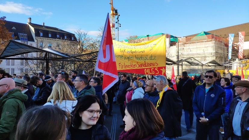 """""""Auf unseren Druck hin hat die Gewerkschaft zu einer Demo aufgerufen"""