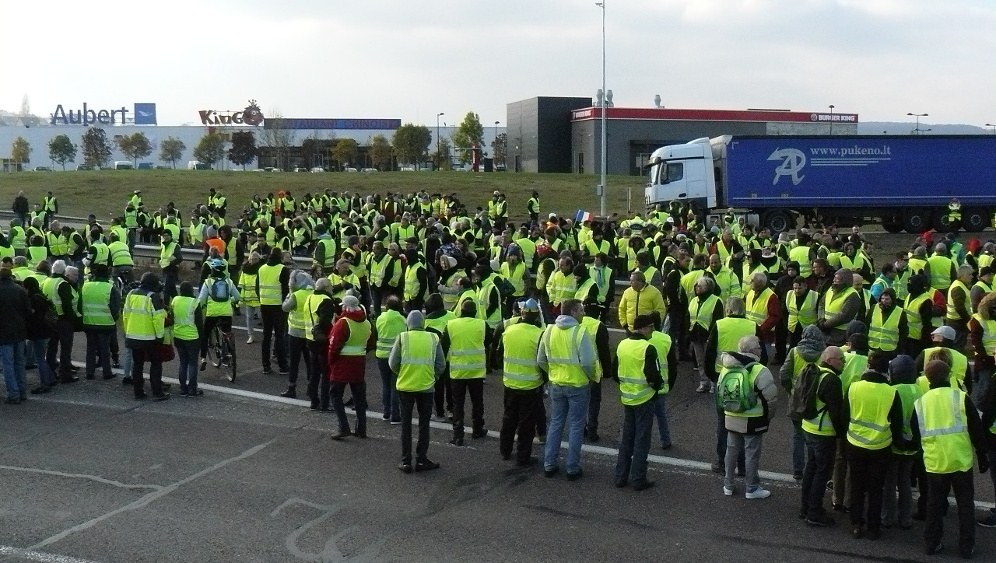 Blockade der Route Nationale 19 bei Vesoul (Haute-Saône) am 17. November (foto: Obier (CC BY-SA 4.0))