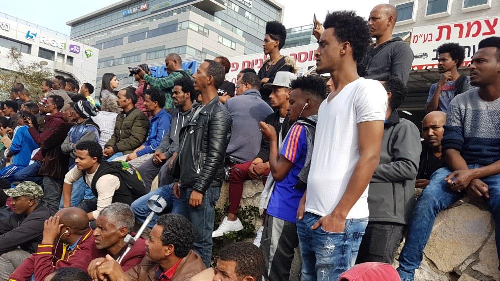 Protest gegen die Abschiebung von Flüchtlingen am 7. Februar (Foto: PikiWiki - Israel free image collection project)