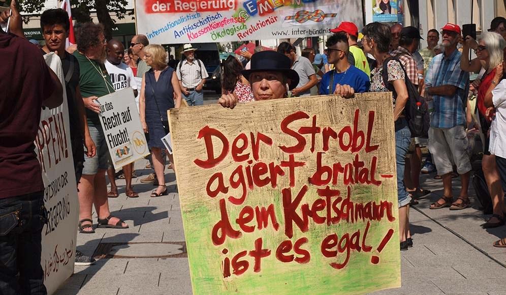 Mutige Demonstration für Alassa im August 2018 in Stuttgart (rf-foto)