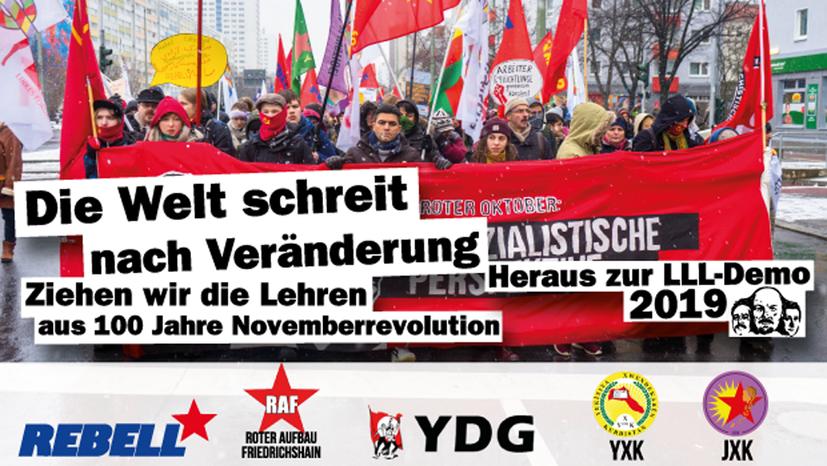 Gemeinsamer Aufruf zur Lenin-Liebknecht-Luxemburg-Demonstration