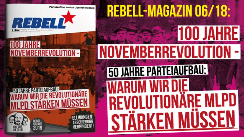 100 Jahre Novemberrevolution – 50 Jahre Parteiaufbau