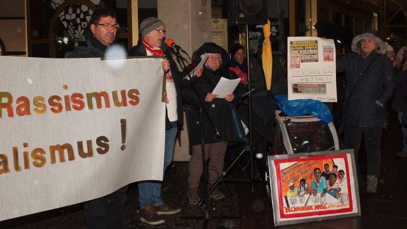 """Protest gegen rassistische Hetzkampagne der """"Bild""""-Zeitung"""