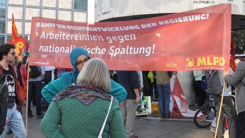 Arbeitereinheit statt nationalistischer Spaltung - dafür steht die MLPD (Foto: RF)