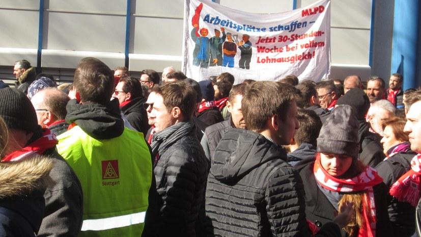 5.000 Bosch-Arbeiterinnen und -Arbeiter protestieren gegen Arbeitsplatzvernichtung