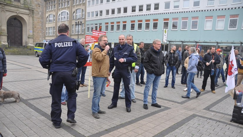 Polizeieinsatz gegen TBW-Kolleginnen und -Kollegen am 1. Mai