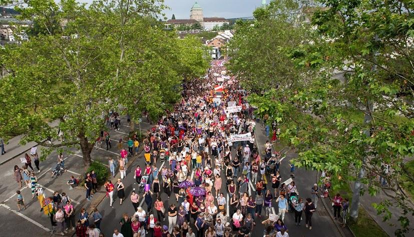 Frauenstreiktag: Eine halbe Million Menschen auf der Straße