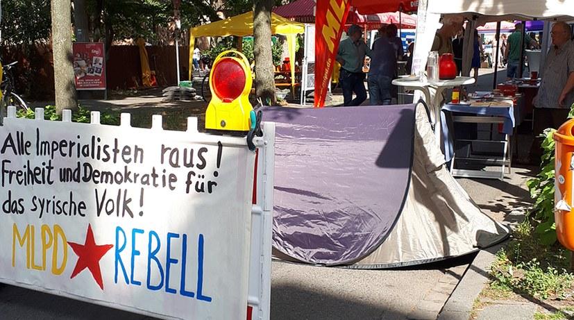 Gostenhofer Stadtteilfest: Werbung für Sommercamp