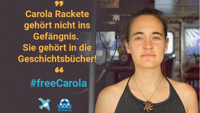 Sofortige Freilassung von Carola Rackete!
