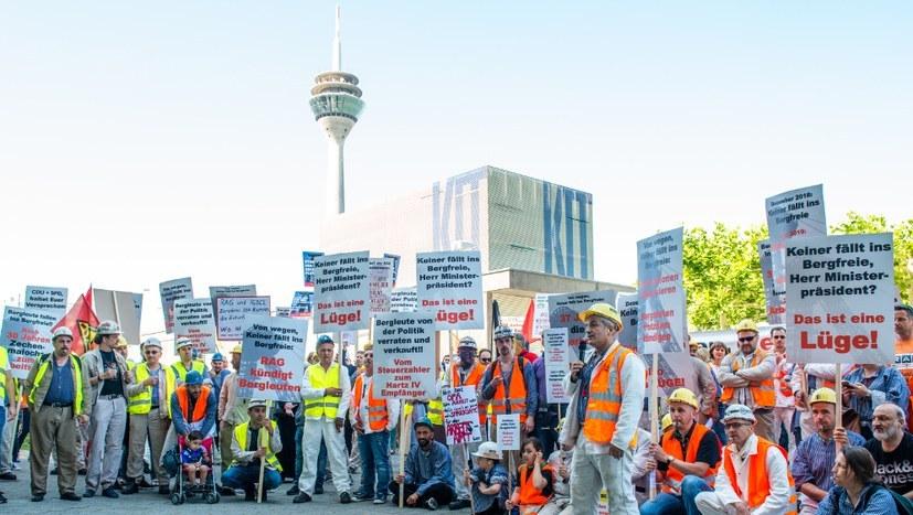 Impressionen von der Bergarbeiterdemonstration am 28. Juni in Düsseldorf