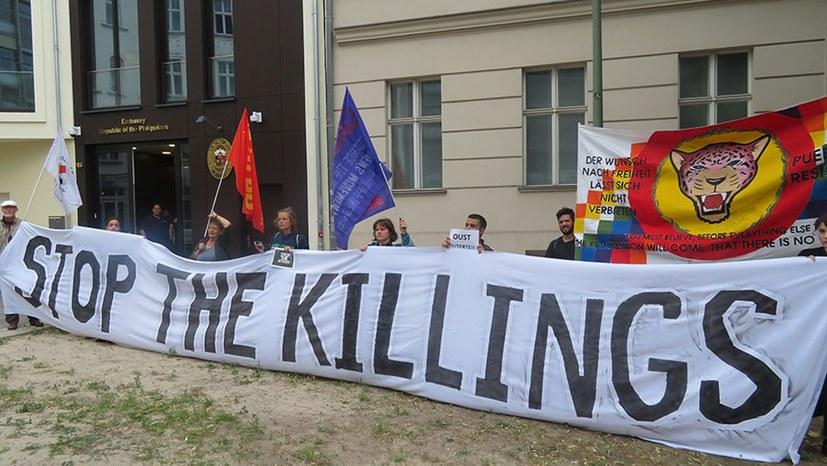 Protest gegen das philippinische Duterte-Regime