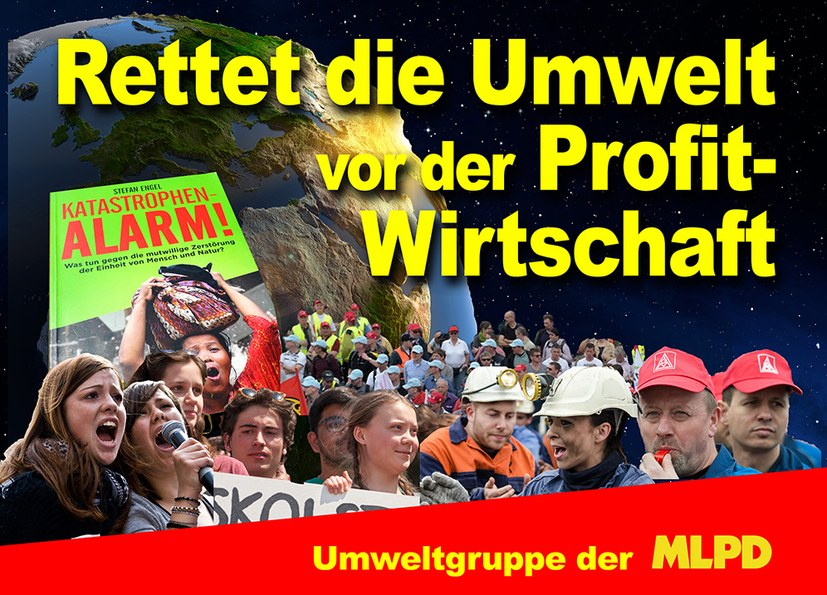 Das Transparent zur globalen Demonstration am 20. September