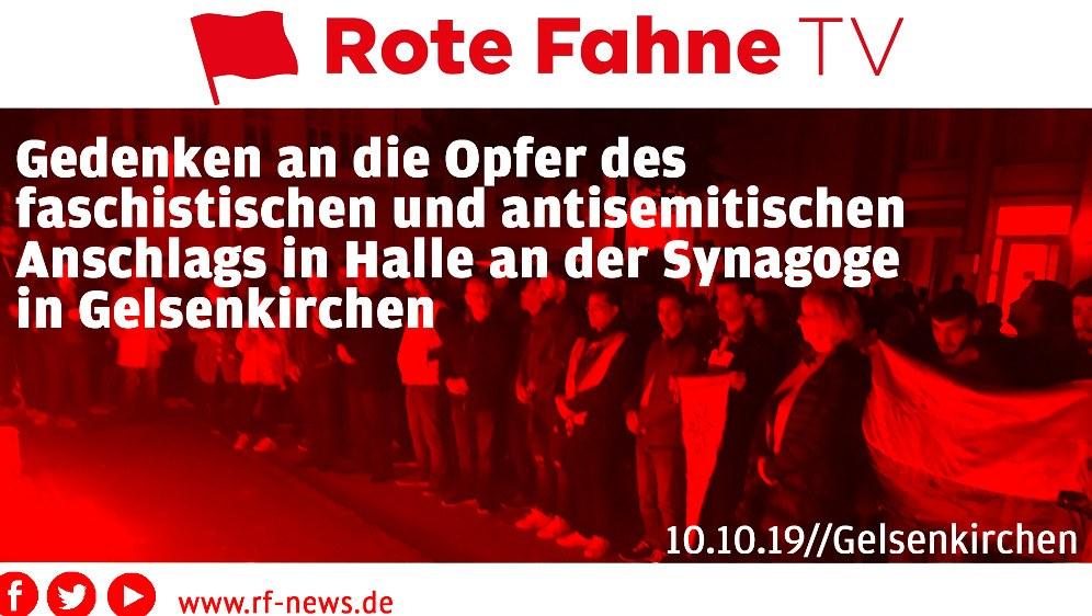 Gedenken an die Anschlagsopfer von Halle an der Saale in Gelsenkirchen am 10. Oktober