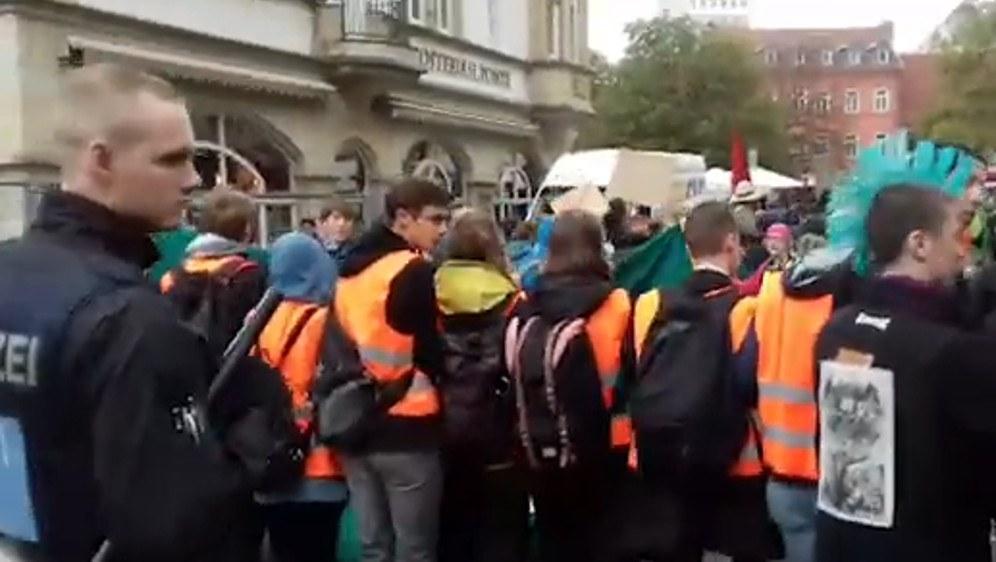 Jämmerliches MLPD-Bashing bei Fridays for Future in Erfurt am 27. September