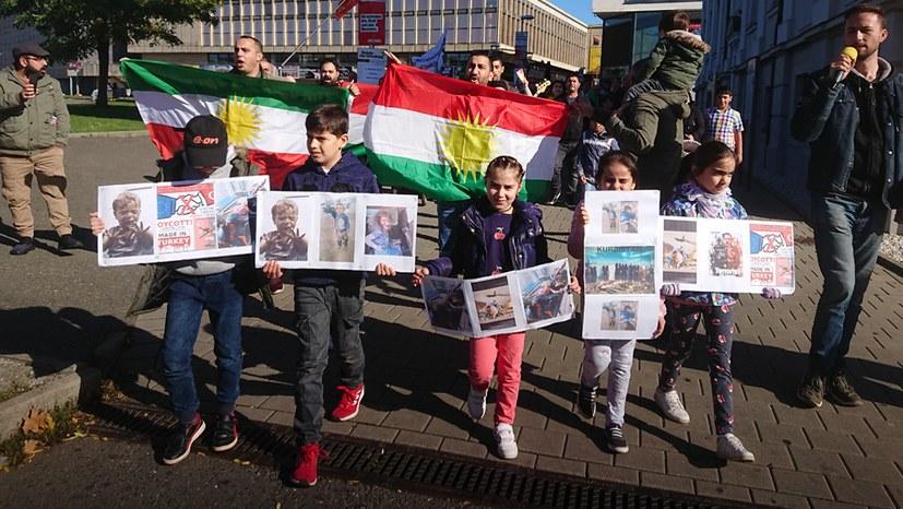 Kurdische Freunde fuhren noch weiter zur Kundgebung nach Erfurt