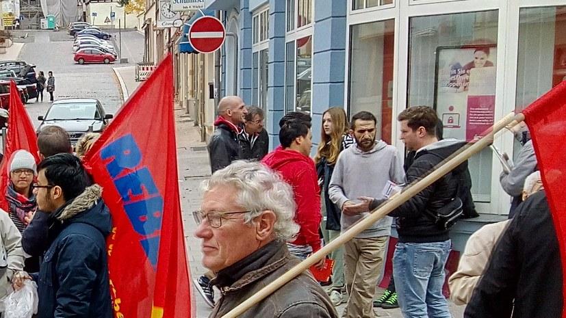 Kämpferische antifaschistische Kundgebung