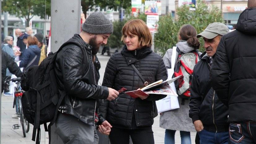 Wahlkundgebung mit Gabi Fechtner in Ilmenau