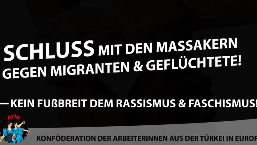 Gemeinsame Aufrufe von ATIF und AGIF zu Demonstrationen gegen den faschistischen Terror - Protest auch in Aschaffenburg
