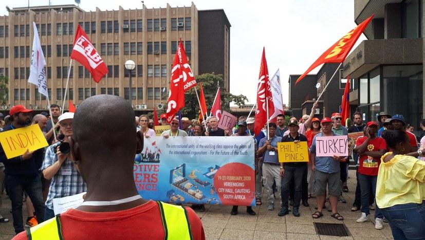 Südafrika: Heiße Diskussionen und begeisternde Demo durch Vereeniging
