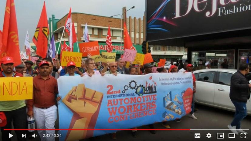 Demonstration während der 2. IAC