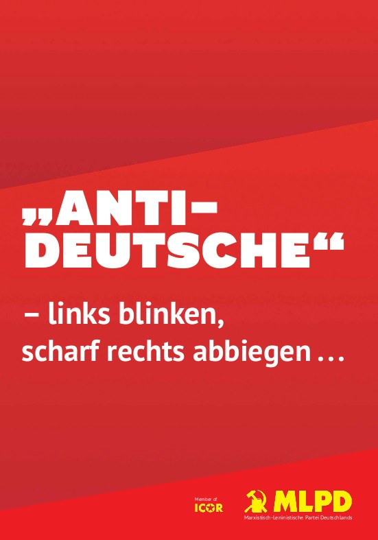 """Antideutsche"" - links blinken, scharf rechts abbiegen ..."