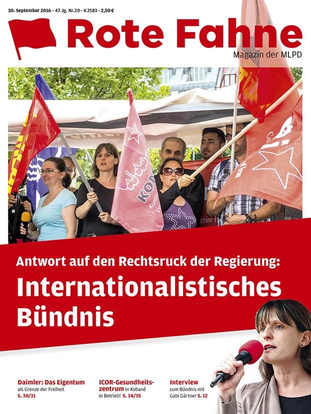 Rote Fahne 20/2016