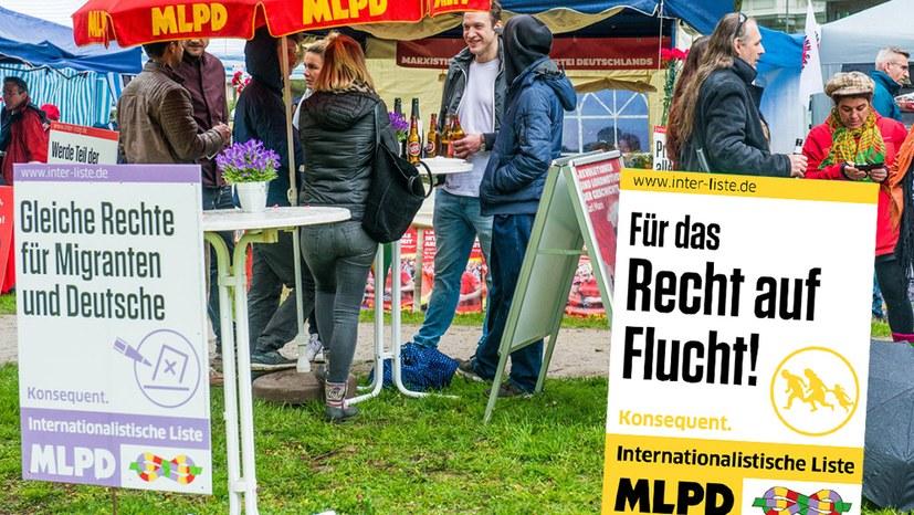 """Attacke gegen das Plakat """"Recht auf Flucht"""""""
