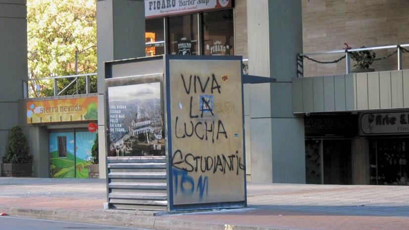 Massenproteste der Studierenden in Kolumbien